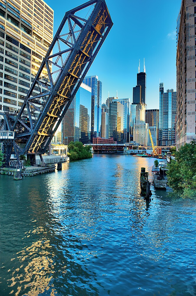Chicago River and Willis Tower by Steve Ivanov