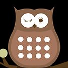 Brown Winking Owl iPhone Case by JessDesigns