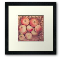 Basketful of Apples  Framed Print