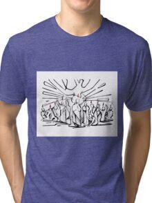 Pentecost illustration Tri-blend T-Shirt