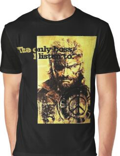 MGS The only boss Graphic T-Shirt