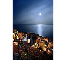 Monemvasia in the natural spotlight Photographic Print