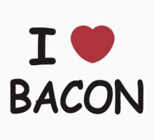 I LOVE BACON I Heart Bacon Pork Funny VINTAGE Retro by jekonu