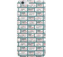 Famous London Street Signs iPhone Case/Skin