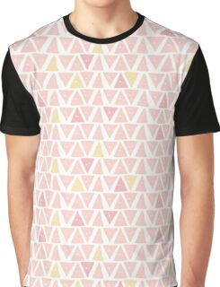 Hipster backgrounds seamless hand drawn triangle pattern in pink Graphic T-Shirt