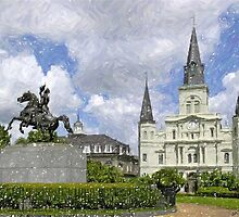 New Orleans Jackson Square by Oldetimemercan