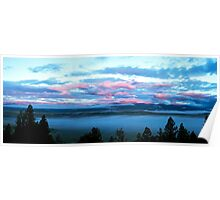 Sunrise over the valley of the Middle Fork Poster