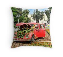lovely Volkswagen beetle Throw Pillow