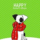 Jack Russell Terrier Modern Happy Howl-i-days by offleashart