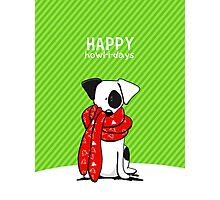 Jack Russell Terrier Modern Happy Howl-i-days Photographic Print