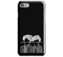 Pocket Twins - Black iPhone Case/Skin