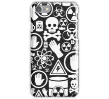 Danger a background iPhone Case/Skin