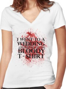 Game of Thrones - Red Wedding T-shirt Women's Fitted V-Neck T-Shirt