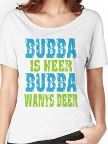 Funny Bubba Is Here For Beer Women's Relaxed Fit T-Shirt