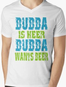 Funny Bubba Is Here For Beer Mens V-Neck T-Shirt