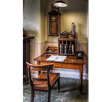 Victorian Pharmacy Office Photographic Print