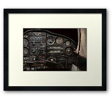Airplane - Piper PA-28 Cherokee Warrior - A warriors view Framed Print