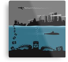 Ecology pollution Metal Print