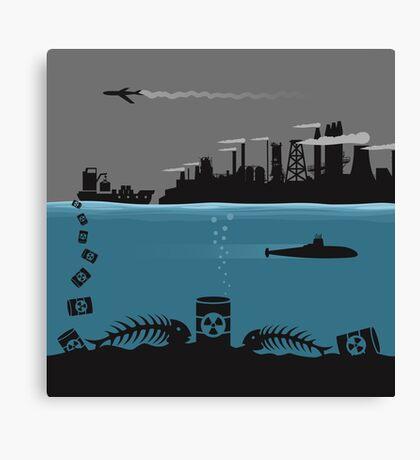 Ecology pollution Canvas Print