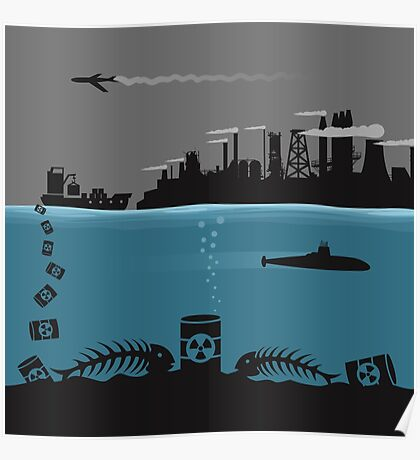 Ecology pollution Poster