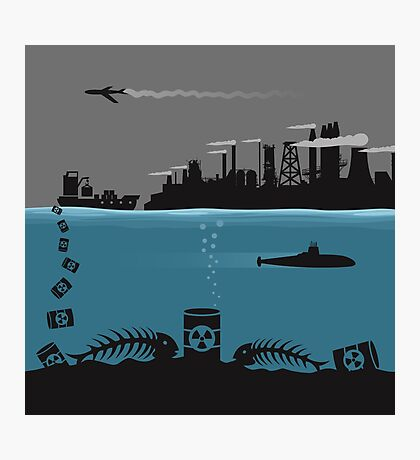 Ecology pollution Photographic Print