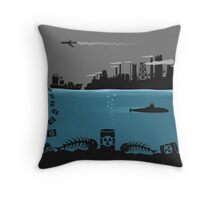 Ecology pollution Throw Pillow