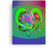 Glam green heart  Canvas Print