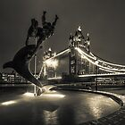 Tower Bridge and Dolphin by Ian Hufton