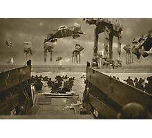 Beach landing Hoth Photographic Print
