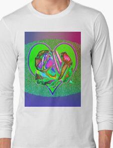 Glam green heart  Long Sleeve T-Shirt
