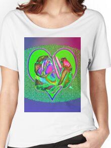 Glam green heart  Women's Relaxed Fit T-Shirt