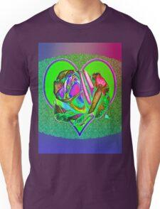 Glam green heart  Unisex T-Shirt