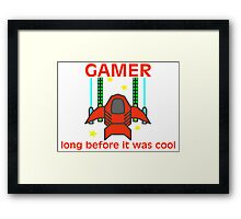 Gamer Before It Was Cool Retro Style Framed Print