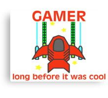 Gamer Before It Was Cool Retro Style Canvas Print
