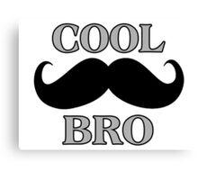 Cool Mustache Bro Canvas Print