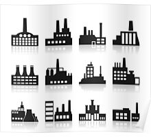 Factory icon Poster