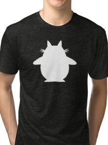 Totoro (white) Tri-blend T-Shirt