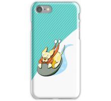Yellow Lab Modern Howl-i-day Sled Ride iPhone Case/Skin