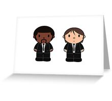 Cartoon Friends: Jules and Vincent Greeting Card