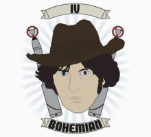 Doctor Who Portraits - Fourth Doctor - Bohemian Baby Tee