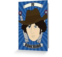 Doctor Who Portraits - Fourth Doctor - Bohemian Greeting Card