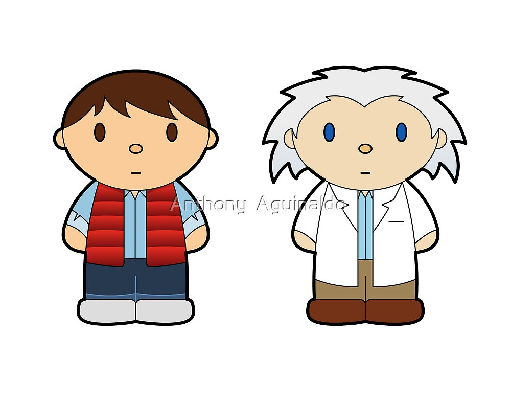 Cartoon Friends: Marty and Doc by thisisanton