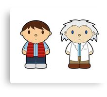 Cartoon Friends: Marty and Doc Canvas Print