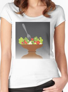 salad bowl T-shirt Women's Fitted Scoop T-Shirt