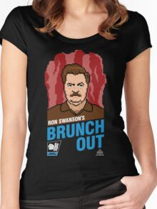 Ron Swanson's BrunchOut Women's Fitted Scoop T-Shirt