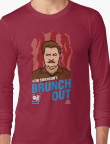 Ron Swanson's BrunchOut Long Sleeve T-Shirt