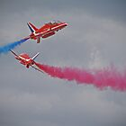 Red Arrows Close Pass - Dunsfold 2012 by Colin J Williams Photography