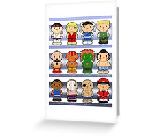 Cartoon Friends: Street Fighter Greeting Card