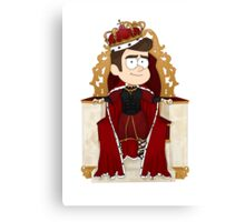 His Royal Highness Chris Colfer Canvas Print