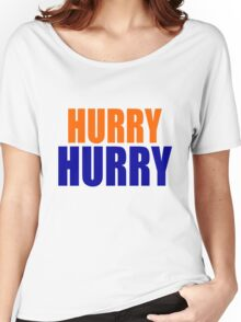 HURRY HURRY!  (Denver Broncos, Peyton Manning) Women's Relaxed Fit T-Shirt